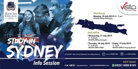 Study in Sydney Info Session with Excelsia College- Jakarta Utara tickets