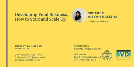Developing Food Business, How to Start and Scale Up tickets