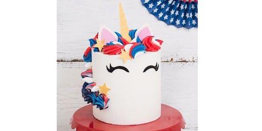 Kids Only July 4th Unicorn Cake Decorating Class