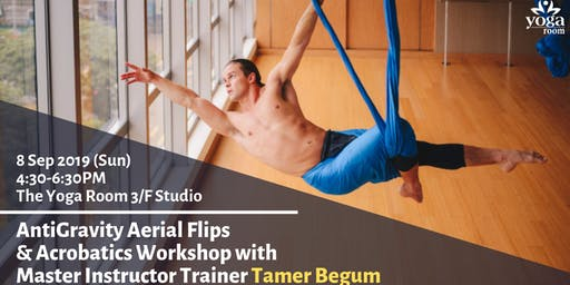AntiGravity Aerial Flips & Acrobatics Workshop with Master Instructor Trainer Tamer Begum