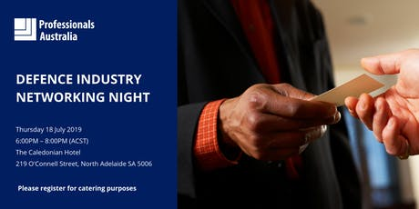 Professionals Australia's Defence Industry Networking Night tickets