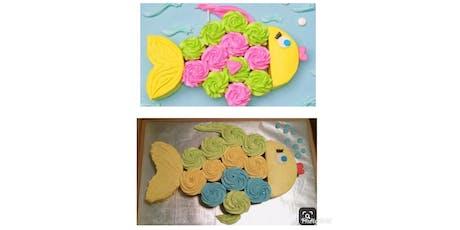 Kids Rainbow Fish cupcake cake decorating class tickets