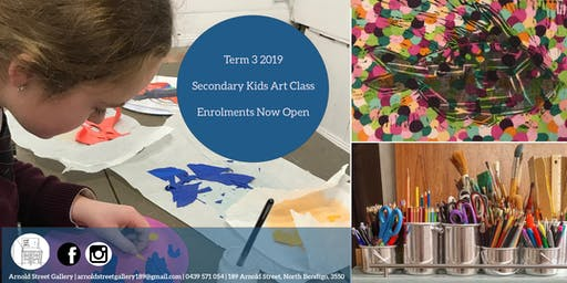 Secondary Kids Art Classes  - Term 3 Enrolments Now Open