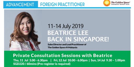 Private Consultation & Healing Sessions with Beatrice Lee tickets