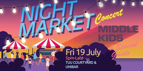 UTAS Night Market with Middle Kids // food voucher: Hobart tickets