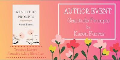 Author Event: Gratitude Prompts by Karen Purves