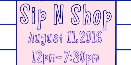 Sip n Shop tickets