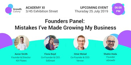 Founders Panel: Mistakes I've Made Growing My Business tickets