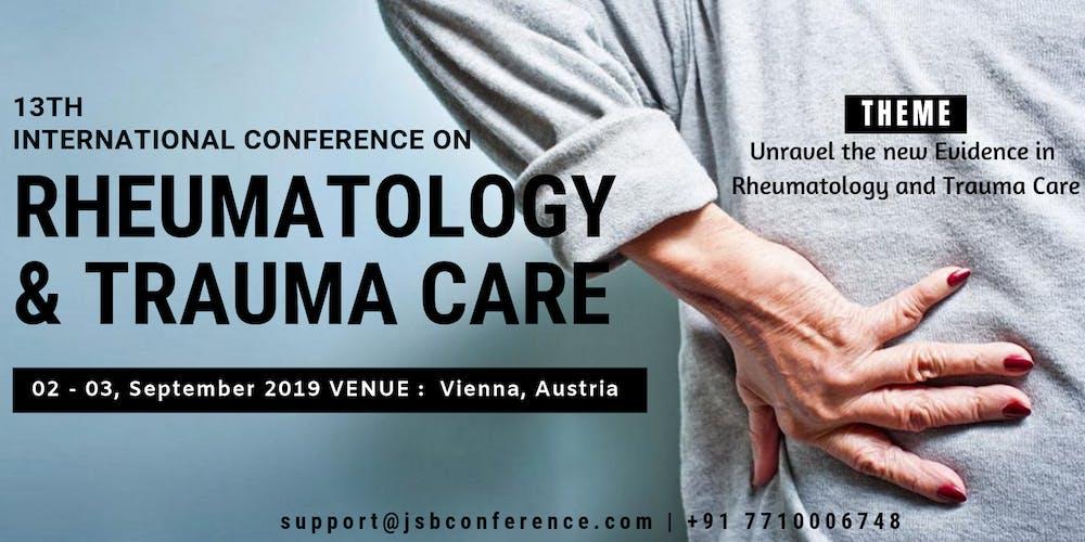 13th International Conference on Rheumatology & Trauma Care Tickets