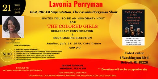 The Colored Girls Broadcast Conversation & Book Signing Reception