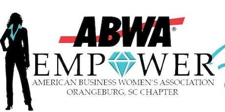 """EmpowerHer ABWA Chapter """"Empower Chat"""" Tuesday, August 13th Orangeburg, SC  tickets"""