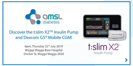 Discover the t:slim X2 Insulin Pump and Dexcom CGM - Wagga Wagga! tickets