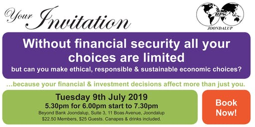 Without Financial Security all your Choices are Limited