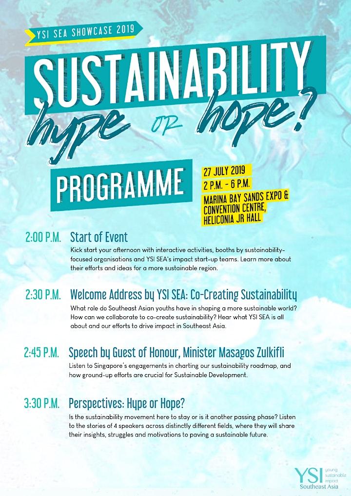 Sustainability: Hype or Hope? YSI SEA Showcase 2019 image