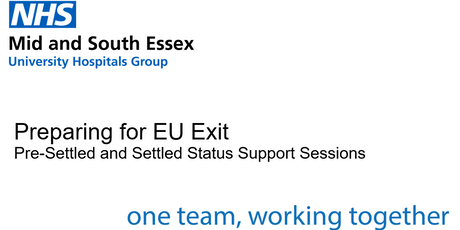 Settled Status Support Session - Southend Hospital tickets