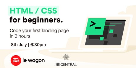 Build your first landing page with Html & Css tickets