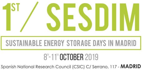 1st  SUSTAINABLE ENERGY STORAGE DAYS IN MADRID - SESDIM 2019 tickets