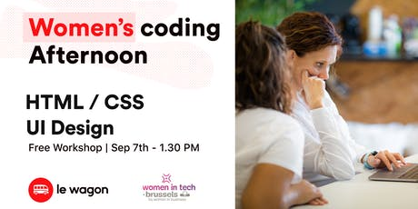 Workshop - Women coding afternoon  billets