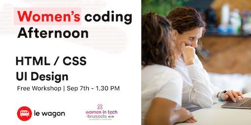 Workshop - Women coding afternoon