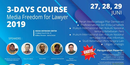 3-Days Course Media Freedom for Lawyer