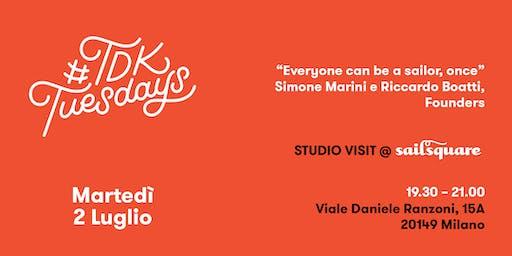 #TDKtuesdays Milan. STUDIO VISIT @sailsquare, w/ Simone and Riccardo