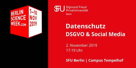 Berlin Science Week 2019 | Datenschutz: DSGVO und Social Media Tickets
