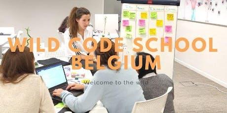 Session d'information sur la formation de développeur web à la Wild Code School  billets