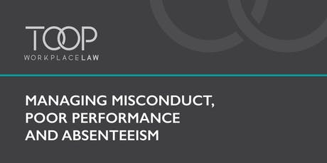 Managing misconduct, poor performance and absenteeism tickets