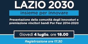 Lazio 2030 - Insieme per innovare