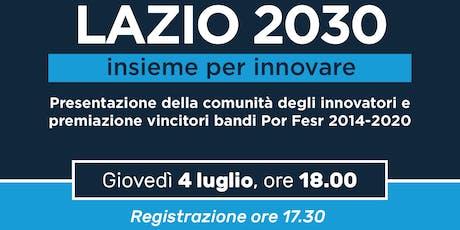Lazio 2030 - Insieme per innovare biglietti