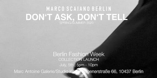 Collection Launch / Marco Scaiano Berlin