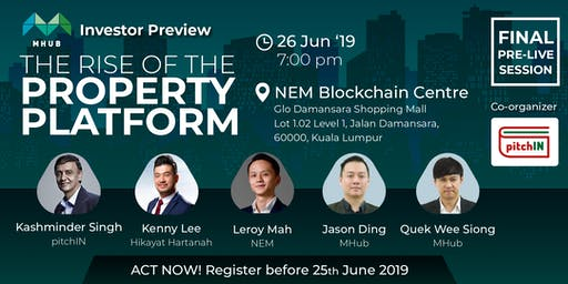 [FINAL PRE-LIVE] MHub Investor Preview: The Rise of The Property Platform