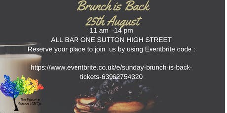 Sunday Brunch is Back tickets