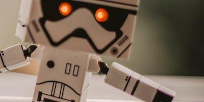 Paper Alien Vibrating Robot Barnstaple FabLab