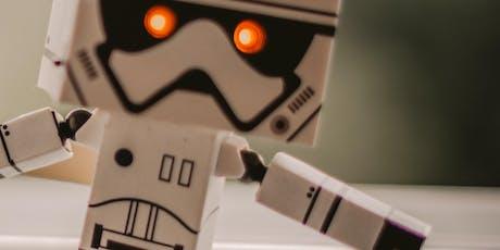 Paper Alien Vibrating Robot Barnstaple FabLab tickets