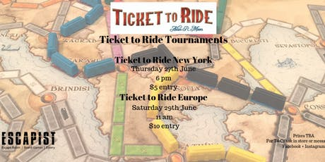 Ticket to Ride New York Tournament tickets