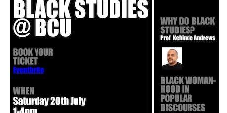 Black Studies @BCU New Courses launch tickets