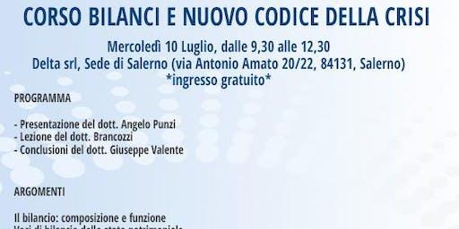 CORSO BILANCI E NUOVO CODICE DELLA CRISI, Salerno, 10 luglio