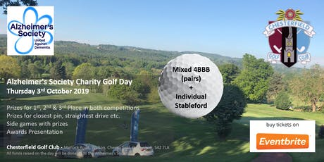 Alzheimer's Charity Golf Day 2019 - Chesterfield GC tickets