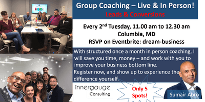 Dream Business - Live (in person) Coaching - Leads & Conversions