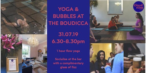 Yoga & Bubbles at The Boudicca