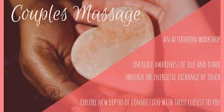 Couples Massage Class tickets