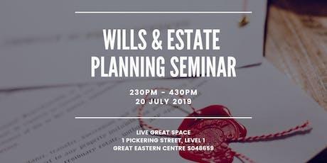 Wills & Estate Planning Seminar tickets