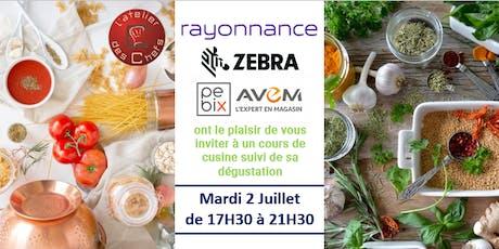 Invitation Atelier des Chefs, Lille - Cours de cuisine suivi de sa dégustation tickets