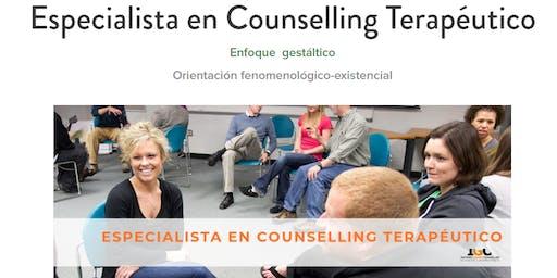 PRE-INSCRIPCIONES  PARA EL CURSO DE ESPECIALISTA EN COUNSELLING