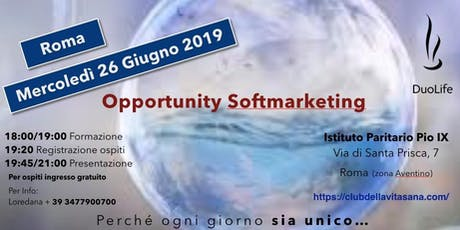 Opportunity Softmarketing biglietti