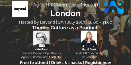 Agile HR Meetup London | Hosts Beyond | Culture as a Product tickets