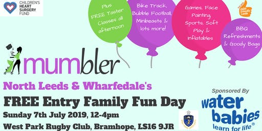 North Leeds & Wharfedale Mumbler FREE Entry Family Fun Day