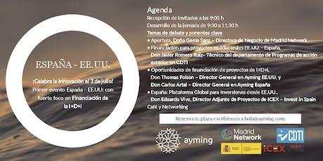 Evento España - EE.UU. sobre Financiación de la Innovación entradas