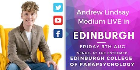"Andrew Lindsay Medium  Live -  EDINBURGH ""Spirit on Earth Tour"" tickets"